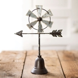 CTW Home Collection Tabletop Metal Windmill with Directional Arrow