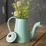 CTW Home Collection Light-Blue-Enameled Vintage-Inspired Coffee Pot