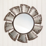 CTW Home Collection Large Windmill Motif Galvanized-Metal Wall Mirror