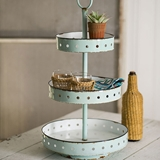 CTW Home Collection Mint-Color Enamel-Covered 3-Tier Maribelle Stand
