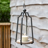 CTW Home Collection Black-Metal Stonebridge Candle Lantern with Hook
