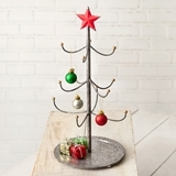 CTW Home Collection Mini Christmas Tree w/ Red Star and Display Stand