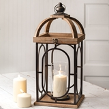 CTW Home Collection Arched-Dome Wood and Metal 'Barclay' Lantern