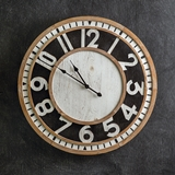 "CTW Home Collection Farmhouse Chic ""Langton"" Wood Wall Clock"
