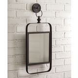 CTW Home Collection Industrial Wall-Mounted Metal Mirror