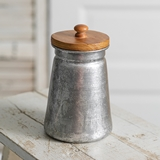 CTW Home Collection Galvanized-Metal Canister with Wood Lid