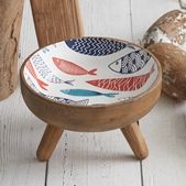 CTW Home Collection Mid-Century Modern Design Wooden Fish Motif Bowl