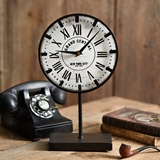 CTW Home Collection Grand Central Station Replica Tabletop Metal Clock