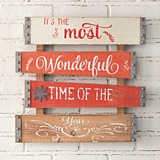 CTW Home Collection 'Most Wonderful Time Of The Year' Planked Sign