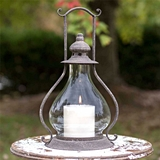 CTW Home Collection Sydney Candle Lantern with Handle & Glass Chimney