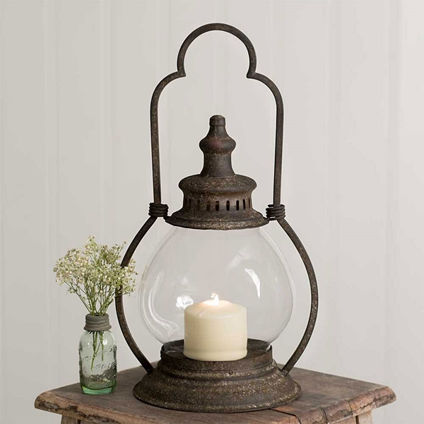 CTW Home Collection Small Steeple Lantern with Globe Chimney