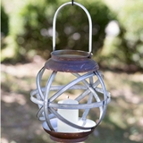 CTW Home Collection Small Asterisk Metal Lantern with Loop Handle