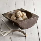 CTW Home Collection Reproduction Primitive Split Log Bowl