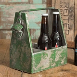 CTW Home Collection Distressed-Metal Soda Caddy with Bottle Opener