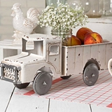 CTW Home Collection Antiqued-White Metal Vintage Pickup Truck Planter