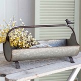 CTW Home Collection Metal Open Feed-Trough Caddy with Songbird Accent