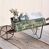 CTW Home Collection Metal Tabletop Wheelbarrow Kitchen Caddy