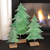 CTW Home Collection Set of Three Corrugated-Metal Christmas Trees