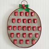 Ornament-Shaped '25 Days of Christmas' Metal Advent Calendar