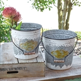 CTW Home Collection Set of Two 'Flowers & Garden' Buckets with Handles