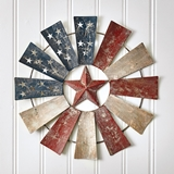 CTW Home Collection American Flag Windmill Wall Decor