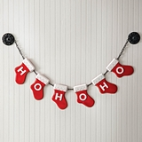 CTW Home Collection 'Ho Ho Ho' Enameled-Metal Stocking Garland