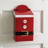 CTW Home Collection Santa Suit Design Enameled-Metal Hanging Mailbox