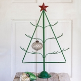 CTW Home Collection Green-Metal Holiday Tree w/ Star and Wire Branches