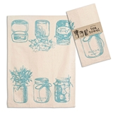 CTW Home Collection Canning Jars Motif Tea Towels (Box of 4)