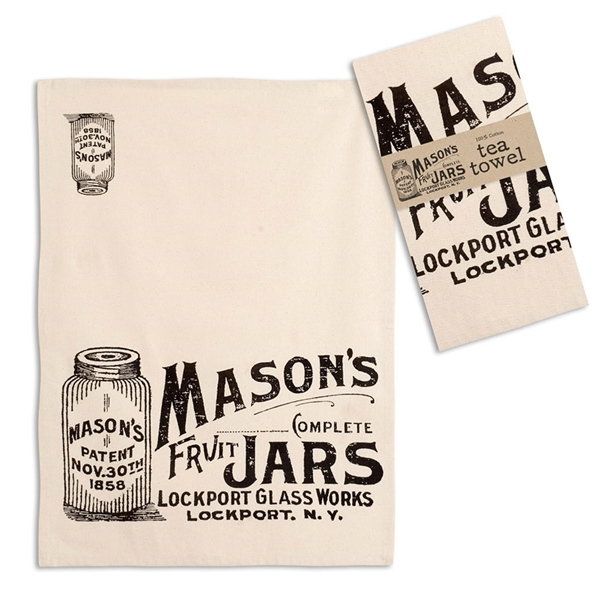 CTW Home Collection Mason Jars Design Tea Towels (Box of 4)