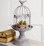 CTW Home Collection Songbird-Topped Gazebo Cloche with Base