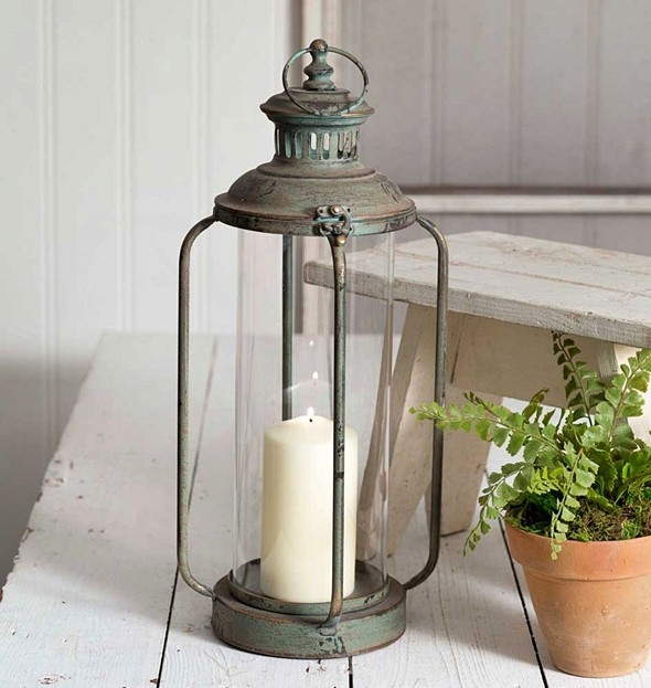 CTW Home Collection Tall Cork County Metal Lantern with Hinged Top