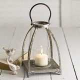 CTW Home Collection Graceful Arches Newport Lantern with Glass Chimney