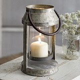 CTW Home Collection Madison County Small Metal Lantern with Swing Arm