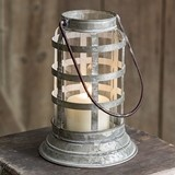 CTW Home Collection Baileys Harbor Metal Lantern with Glass Chimney