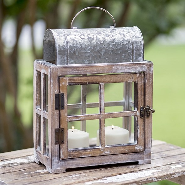 "CTW Home Collection ""Bar Harbor"" Lantern with Hinged Door"