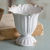 CTW Home Collection Antiqued-White Small Scalloped Cups (Box of 4)