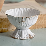 CTW Home Collection Mini Antiqued-White-Metal Scalloped Cup (Box of 4)