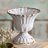 CTW Home Collection Medium Antiqued-White Scalloped Cup (Set of 4)