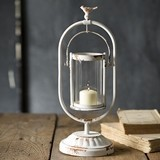 CTW Home Collection Antiqued White-Painted Metal 'Edenton' Lantern