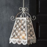 CTW Home Collection Bella Hanging Votive Holder with Starburst Pattern