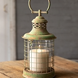 CTW Home Collection Antiqued Cape Cod Candle Lantern with Handle