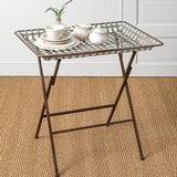 CTW Home Collection Metal Edison Folding Table