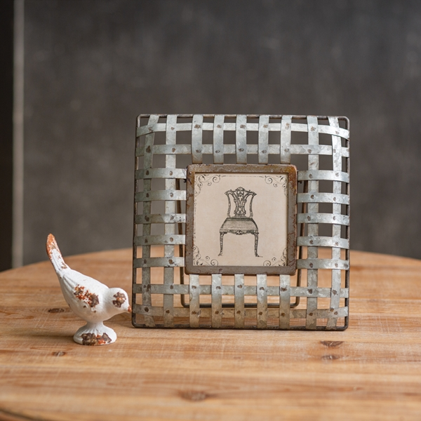 CTW Home Collection Edison Metal Square 4x4 Photo Frame