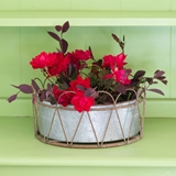 CTW Home Collection Piper Wire-Framed Metal Planter with Removable Bin