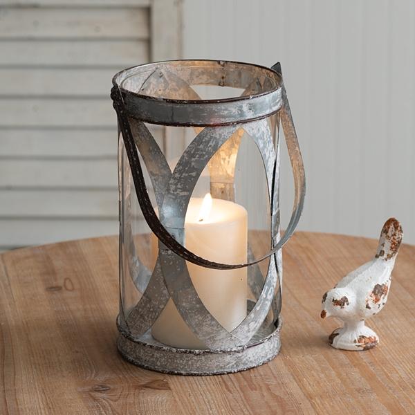CTW Home Collection 'Bristol' Galvanized-Metal Pillar Candle Lantern