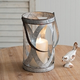 CTW Home Collection 'Bristol' Galvanized-Metal Pillar Candle Lantern