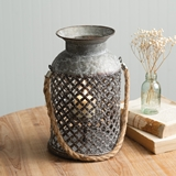 CTW Home Collection 'Newport' Metal Candle Lantern with Rope Handle