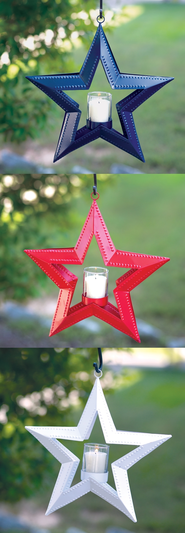CTW Home Collection 5 Point Hanging Star Votive Holder (3 Colors)