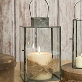 CTW Home Collection Large Hayworth Metal & Glass Lantern with Door